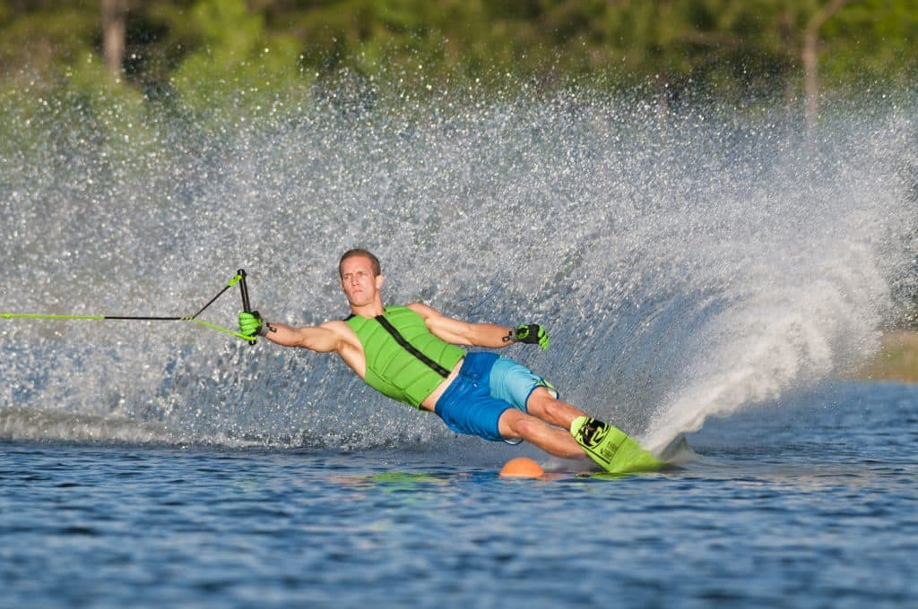 Slalom en esquí náutico