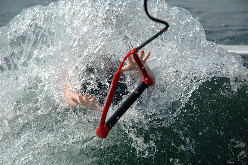 Caída en wakeboard