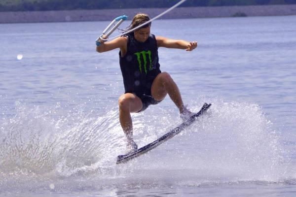 Olie en wakeboard