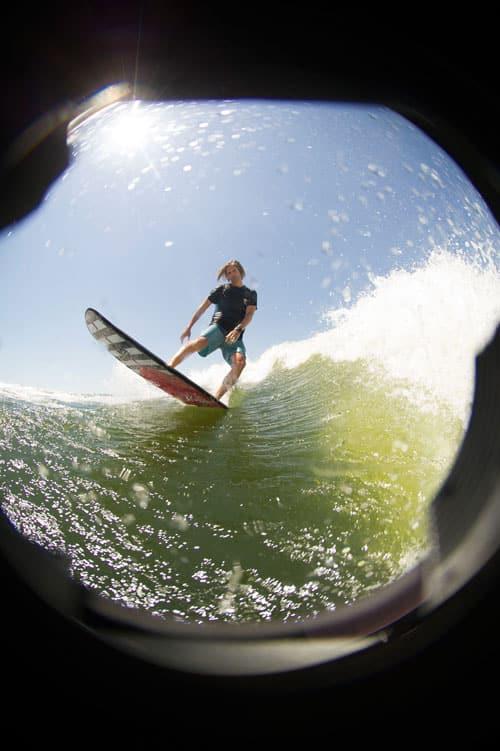Preparar ola para wakesurf
