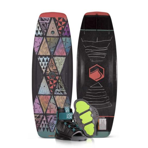 Pack tabla y botas de wakeboard liquid force para niños fury + rant