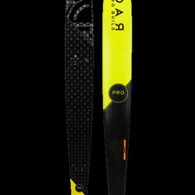 Tabla de esquí acuático de slalom Radar Pro Build Vapor en amarillo
