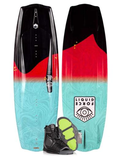 Pack tabla y botas de wakeboard liquid force trip + index