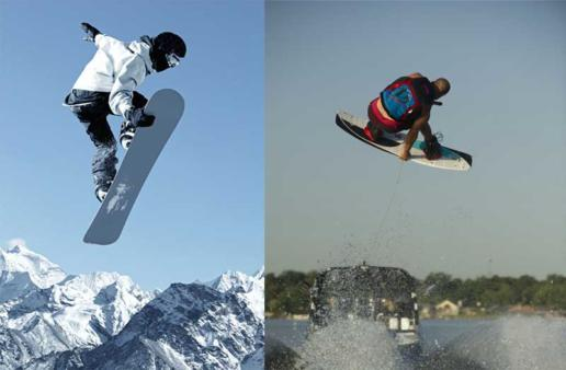 wakeboard y snowboard
